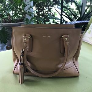 COACH Candace Tan Leather Bag